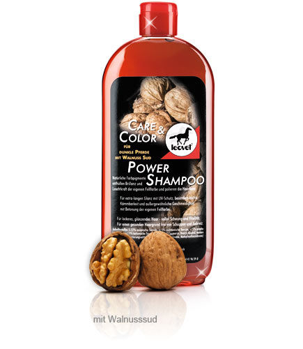 Leovet Power Shampoo & Power Striegel Walnuss