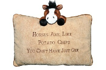 Plüschkissen - Horses are like potato chips